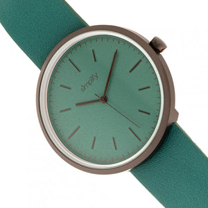 Simplify The 3000 Leather-Band Watch - Green - SIM3004