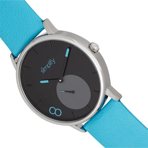 Simplify The 7200 Leather-Band Watch - Turquoise - SIM7203