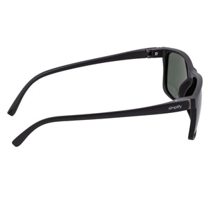 Simplify Ellis Polarized Sunglasses - Black/Silver - SSU123-SL