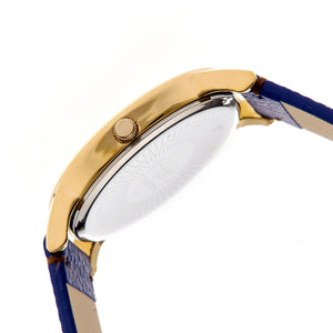 Simplify The 2800 Leather-Band Watch - Gold/Blue - SIM2804