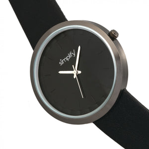 Simplify The 6000 Strap Watch - Gunmetal/Black - SIM6003