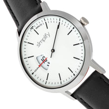 Load image into Gallery viewer, Simplify The 6500 Leather-Band Watch - Black/White - SIM6501