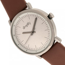 Load image into Gallery viewer, Simplify The 6200 Leather-Strap Watch - Grey/Brown - SIM6205