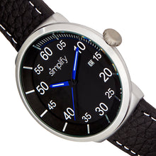 Load image into Gallery viewer, Simplify The 7100 Leather-Band Watch w/Date - Black - SIM7103