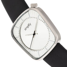 Load image into Gallery viewer, Simplify The 6800 Leather-Band Watch - Silver - SIM6801