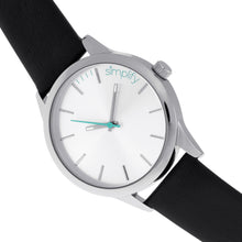 Load image into Gallery viewer, Simplify The 2400 Leather-Band Unisex Watch - Silver - SIM2401
