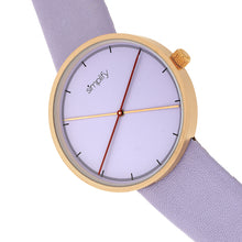 Load image into Gallery viewer, Simplify The 4100 Leather-Band Watch - Rose Gold/Purple - SIM4105