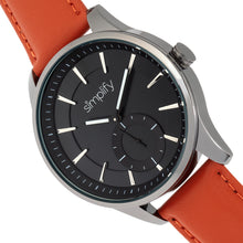 Load image into Gallery viewer, Simplify The 6600 Series Leather-Band Watch - Orange/Black - SIM6605