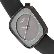 Load image into Gallery viewer, Simplify The 6800 Leather-Band Watch - Black/Charcoal - SIM6804