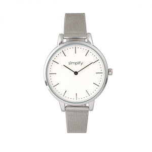 Simplify The 5800 Mesh Bracelet Watch - Silver - SIM5801