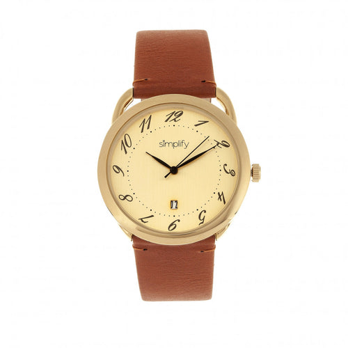 Simplify The 4900 Leather-Band Watch w/Date - SIM4903