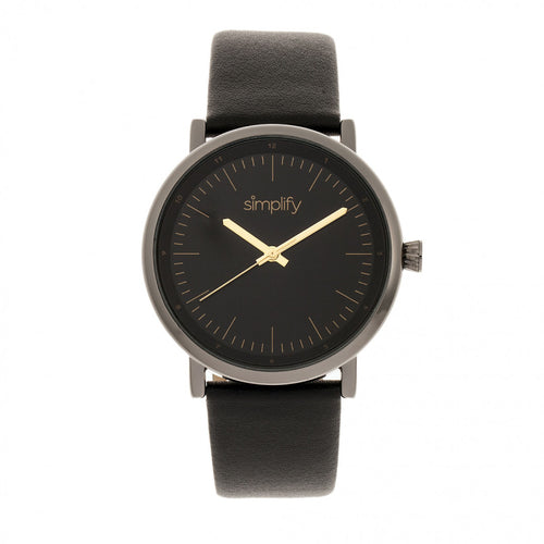 Simplify The 6200 Leather-Strap Watch - SIM6204