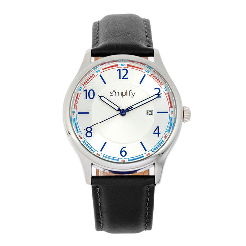 Simplify The 6900 Leather-Band Watch w/ Date - SIM6901