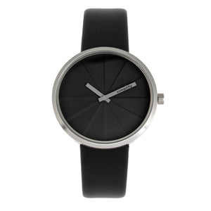 Simplify The 4000 Leather-Band Watch - Black - SIM4007