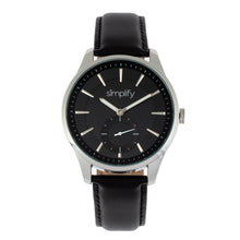 Load image into Gallery viewer, Simplify The 6600 Series Leather-Band Watch - Black - SIM6602
