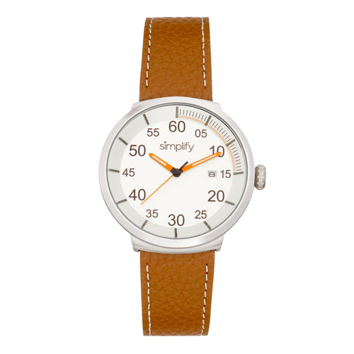 Simplify The 7100 Leather-Band Watch w/Date - SIM7102