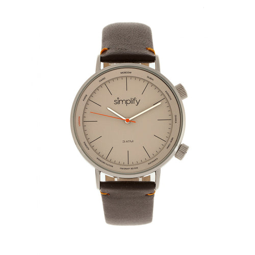 Simplify The 3300 Leather-Band Watch - SIM3304