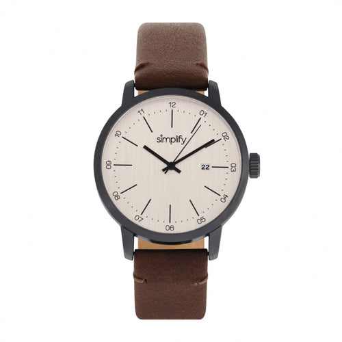 Simplify The 2500 Leather-Band Men's Watch w/ Date - SIM2504