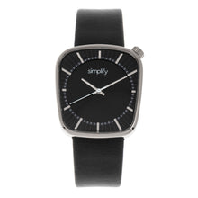 Load image into Gallery viewer, Simplify The 6800 Leather-Band Watch - Silver/Black - SIM6802
