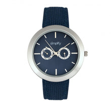 Load image into Gallery viewer, Simplify The 6100 Canvas-Overlaid Strap Watch w/ Day/Date - Blue - SIM6104