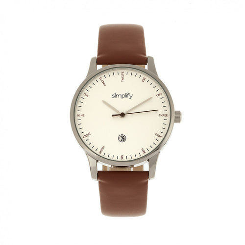 Simplify The 4300 Leather-Band Watch w/Date - SIM4302