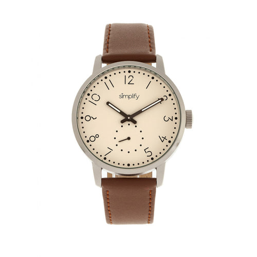 Simplify The 3400 Leather-Band Watch - SIM3403
