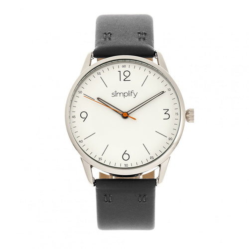 Simplify The 6300 Leather-Band Watch - SIM6301