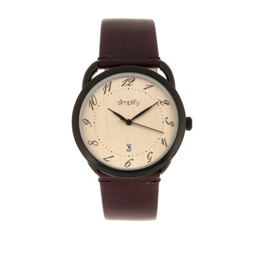Simplify The 4900 Leather-Band Watch w/Date - SIM4904
