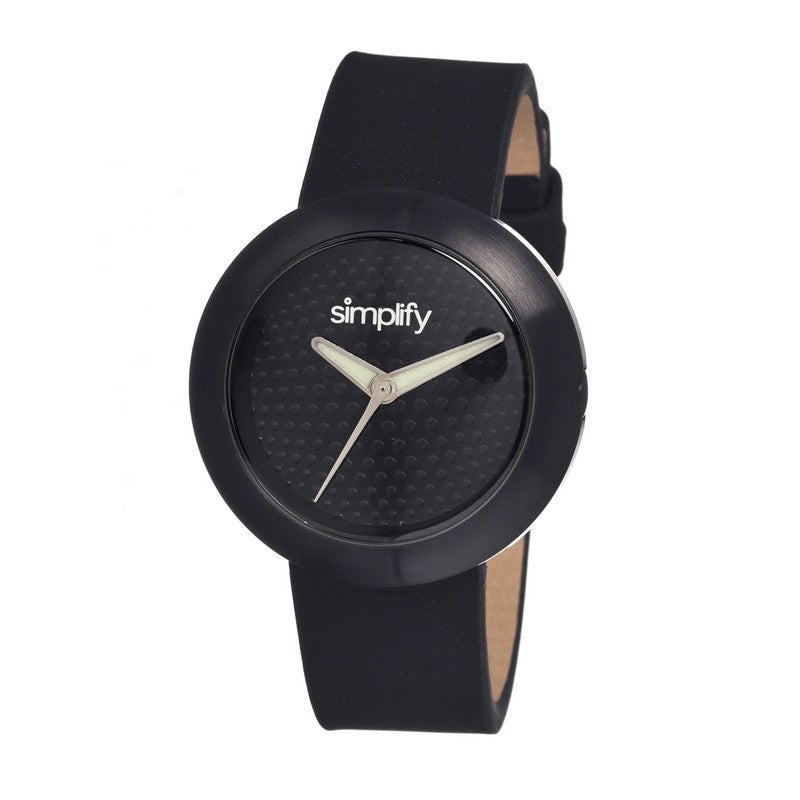 Simplify The 1200 Leather-Band Unisex Watch