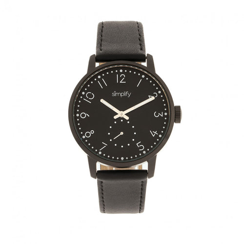 Simplify The 3400 Leather-Band Watch - SIM3406
