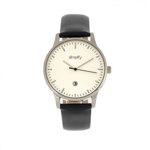 Simplify The 4300 Leather-Band Watch w/Date - SIM4301