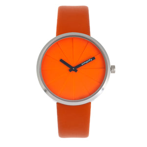 Simplify The 4000 Leather-Band Watch - Orange - SIM4006