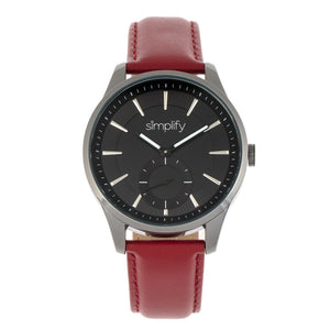 Simplify The 6600 Series Leather-Band Watch