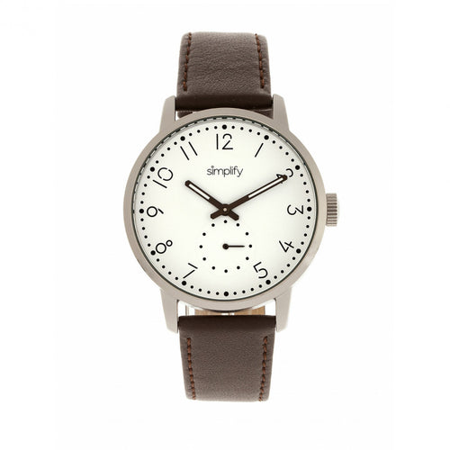 Simplify The 3400 Leather-Band Watch - SIM3401
