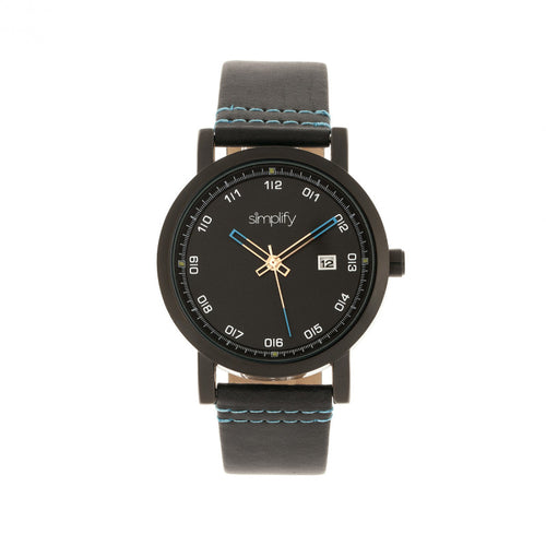 Simplify The 5300 Leather-Band Watch w/Date - SIM5306