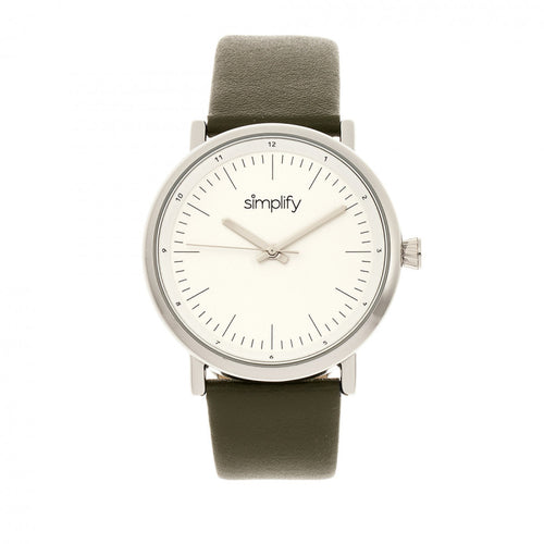Simplify The 6200 Leather-Strap Watch - SIM6201