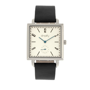 Simplify The 5000 Leather-Band Watch - Black/White - SIM5001