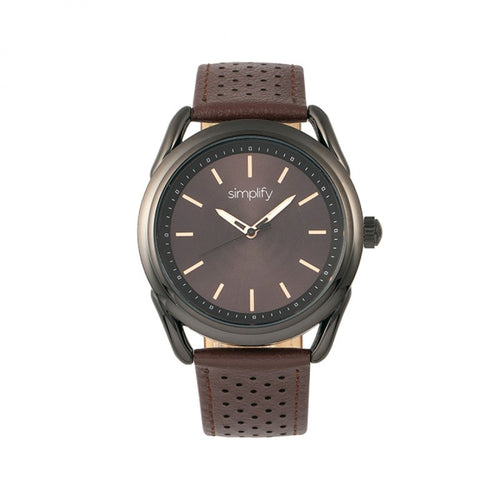 Simplify The 5900 Leather-Band Watch - SIM5905