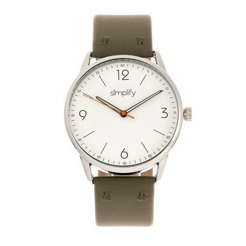 Simplify The 6300 Leather-Band Watch - SIM6302