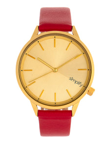Simplify The 6700 Series Strap Watch - Red/Gold - SIM6706