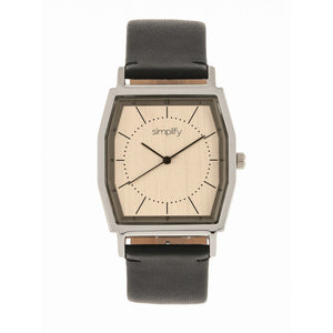 Simplify The 5400 Leather-Band Watch