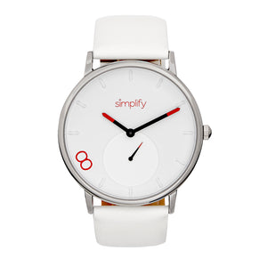 Simplify The 7200 Leather-Band Watch - White - SIM7201