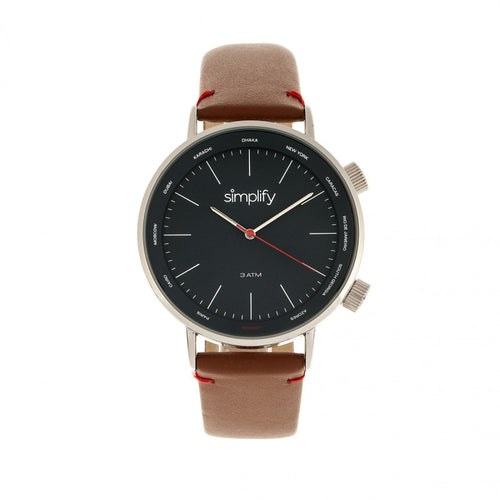 Simplify The 3300 Leather-Band Watch - SIM3303