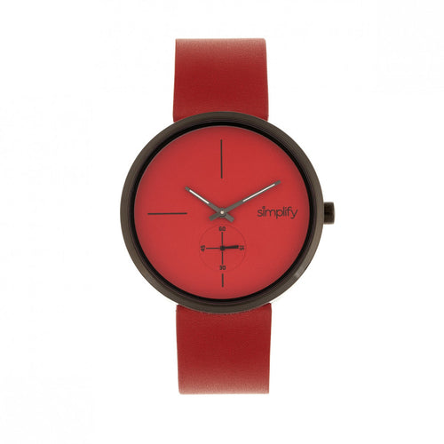 Simplify The 4400 Leather-Band Watch - SIM4406