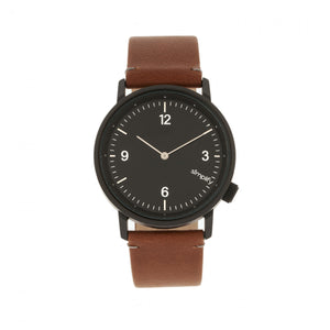 Simplify The 5500 Leather-Band Watch - Black/Brown - SIM5505