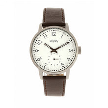 Load image into Gallery viewer, Simplify The 3400 Leather-Band Watch - Silver/Dark Brown - SIM3401