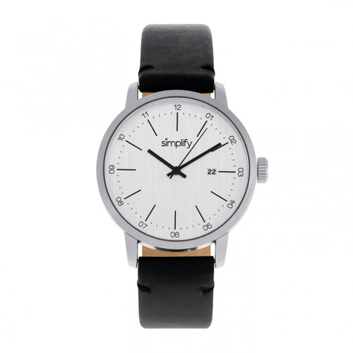 Simplify The 2500 Leather-Band Men's Watch w/ Date - SIM2501