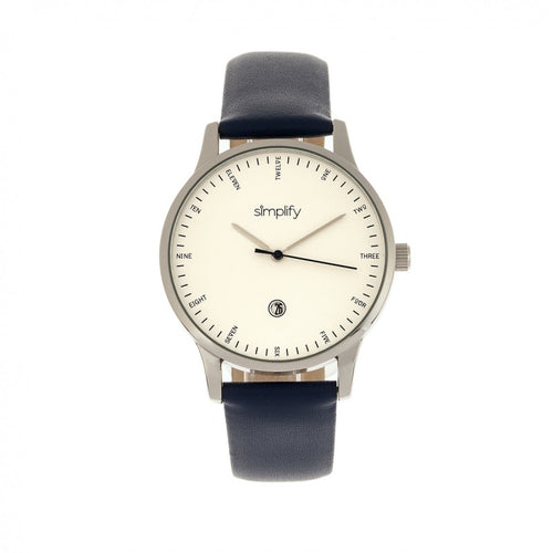 Simplify The 4300 Leather-Band Watch w/Date - SIM4304