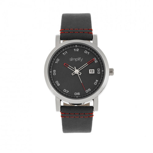 Simplify The 5300 Leather-Band Watch w/Date - SIM5302