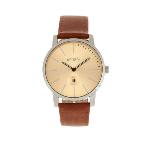 Simplify The 4700 Leather-Band Watch w/Date - SIM4704